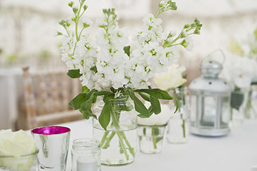Boho chic table flowers